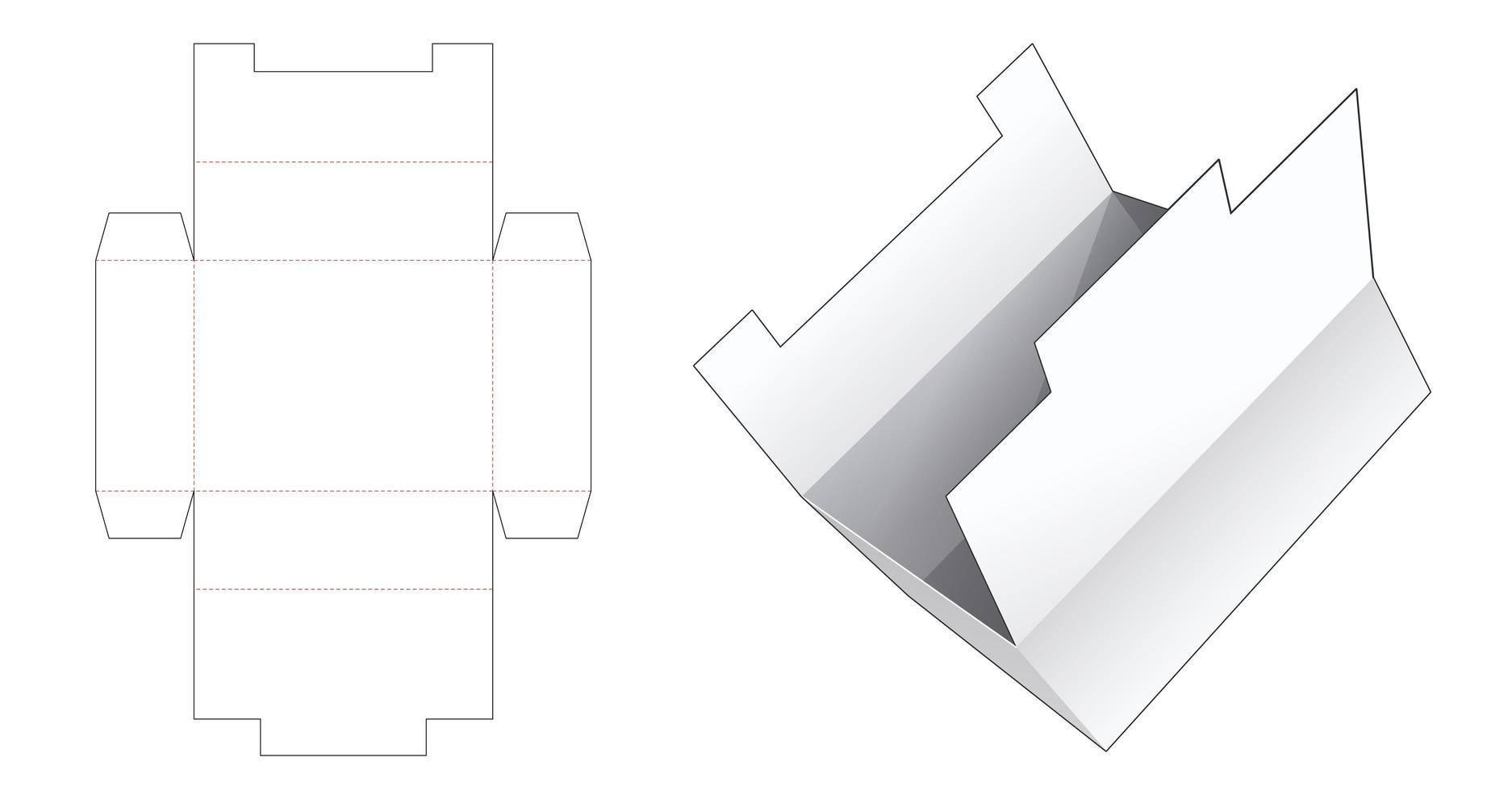 boîte de rangement en carton vecteur