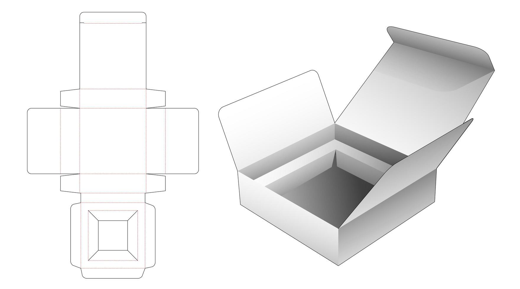 Boîte à flip 1 pièce avec support vecteur