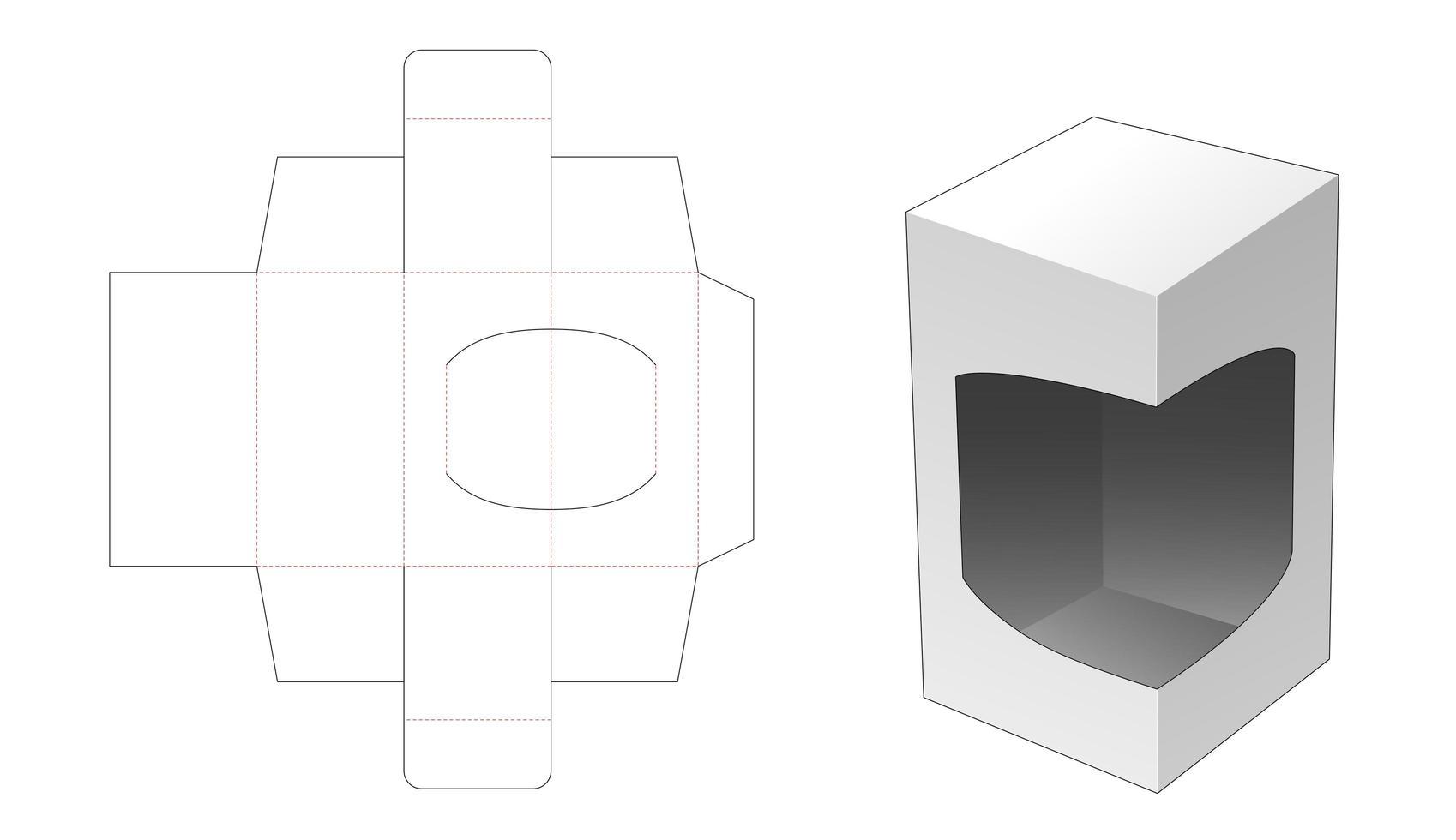 Boîte de vente au détail 1 pièce avec support vecteur