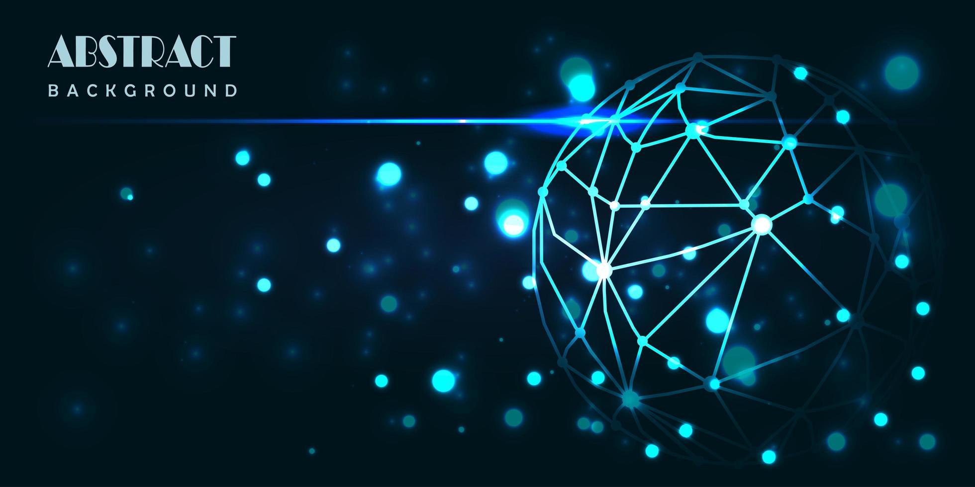 conception abstraite du monde de la technologie numérique bleu brillant vecteur
