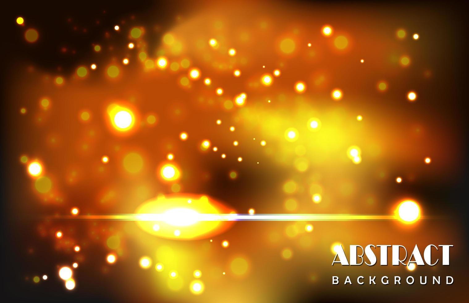 conception abstraite de particules jaunes brillantes vecteur