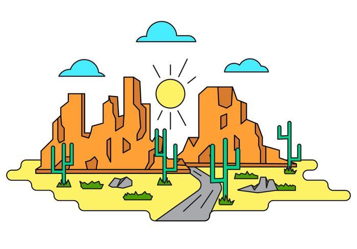 Grand Canyon Illustration Vectorisée vecteur