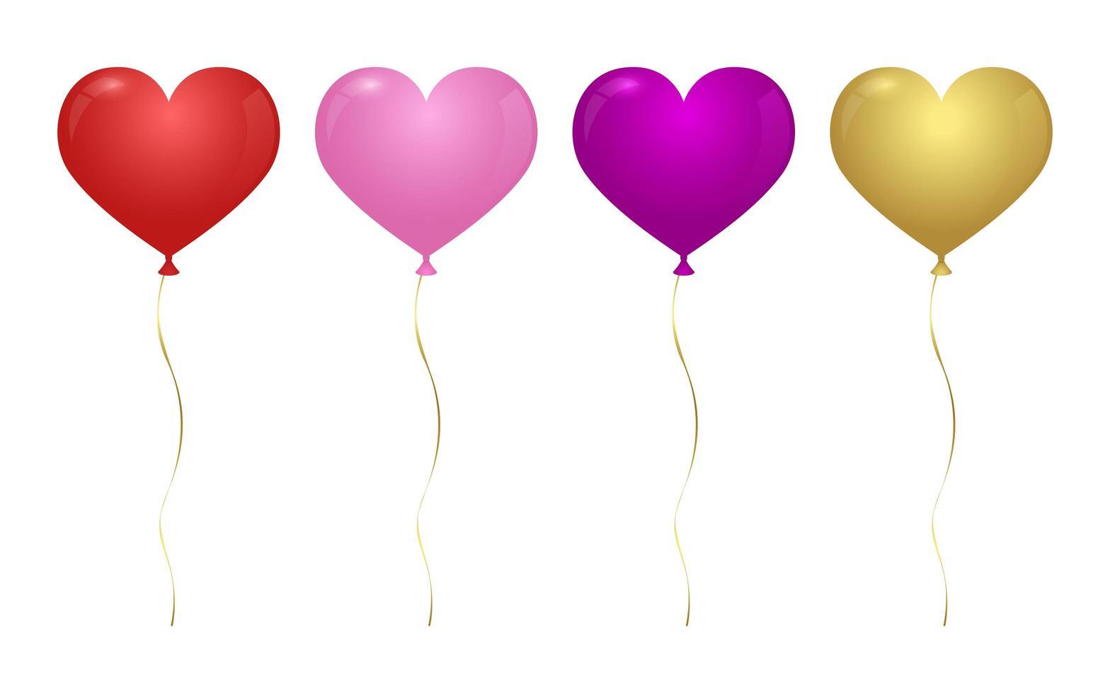 ballon en forme de coeur vecteur