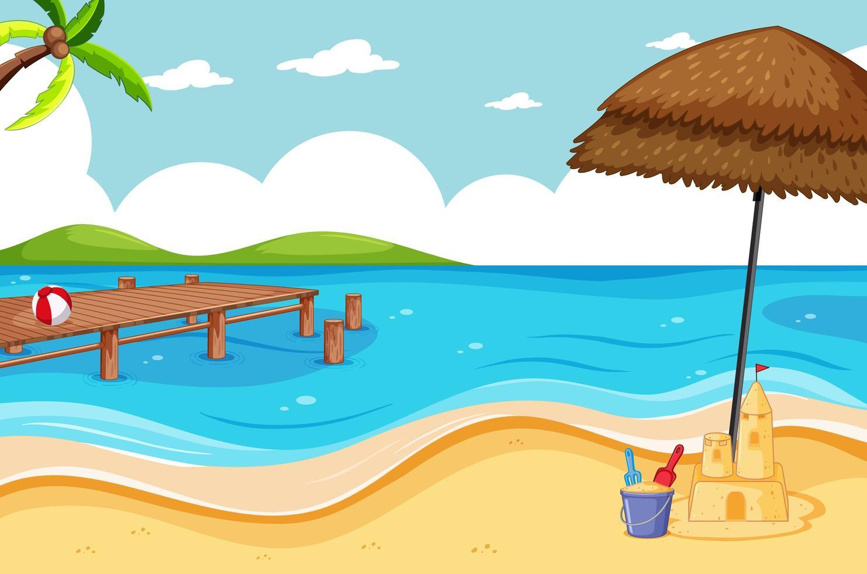 plage tropicale et plage de sable vecteur