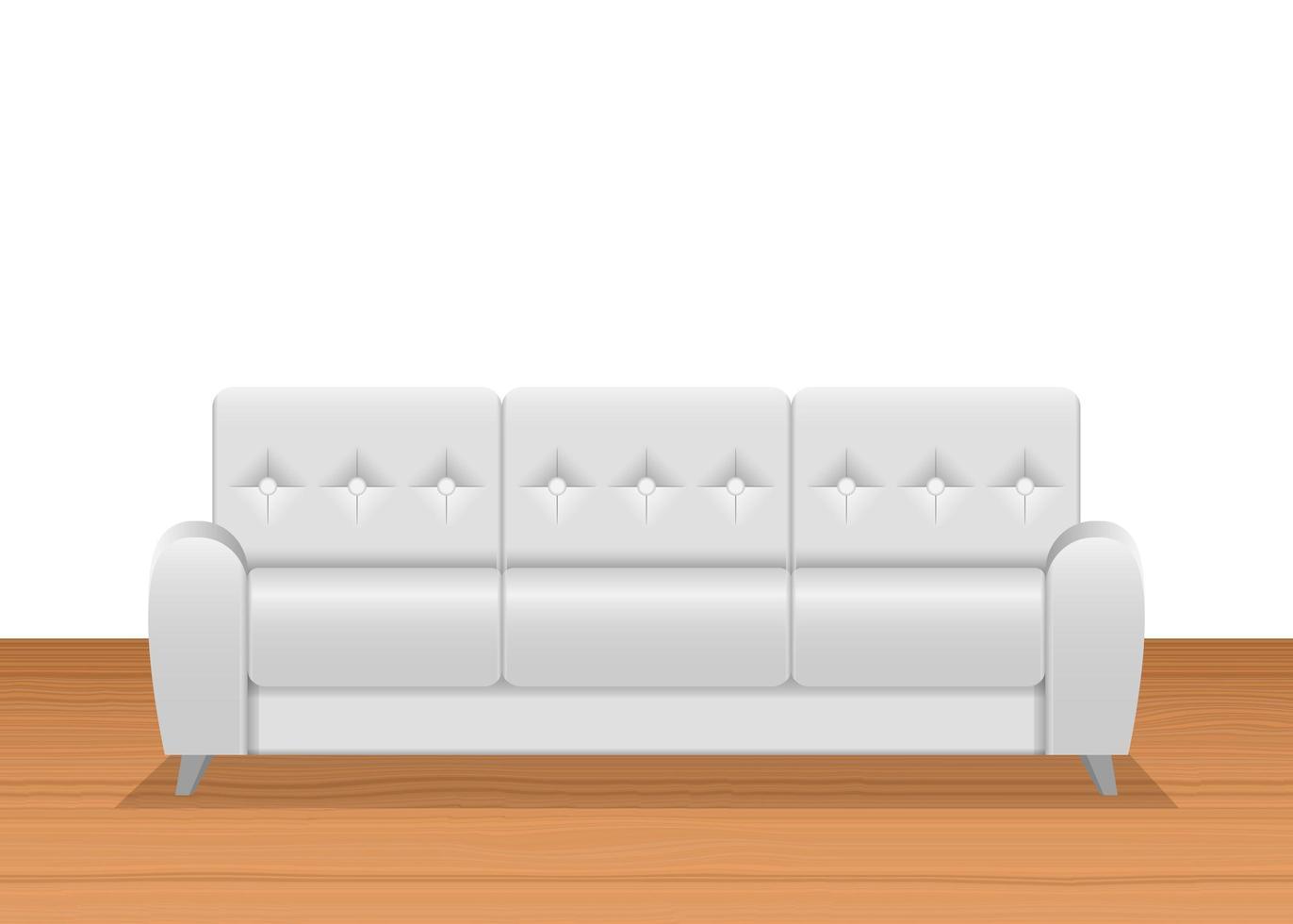 canapé blanc réaliste vecteur