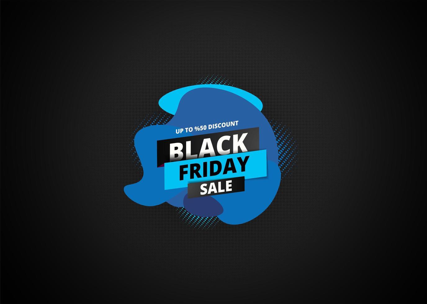 dessin abstrait bleu vendredi noir sur motif demi-teinte sombre vecteur