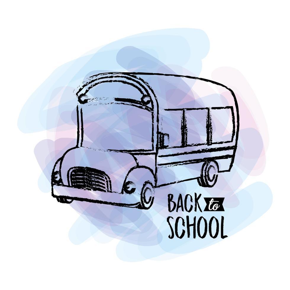 retour à la conception des autobus scolaires vecteur