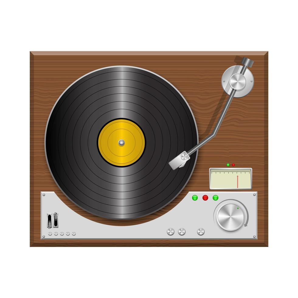 tourne-disque vintage vecteur