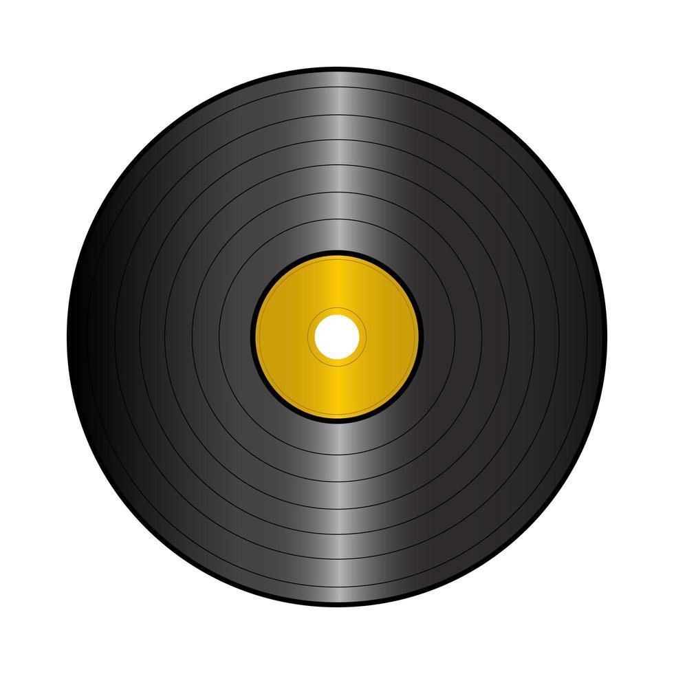 disque d'enregistrement isolé sur fond blanc vecteur