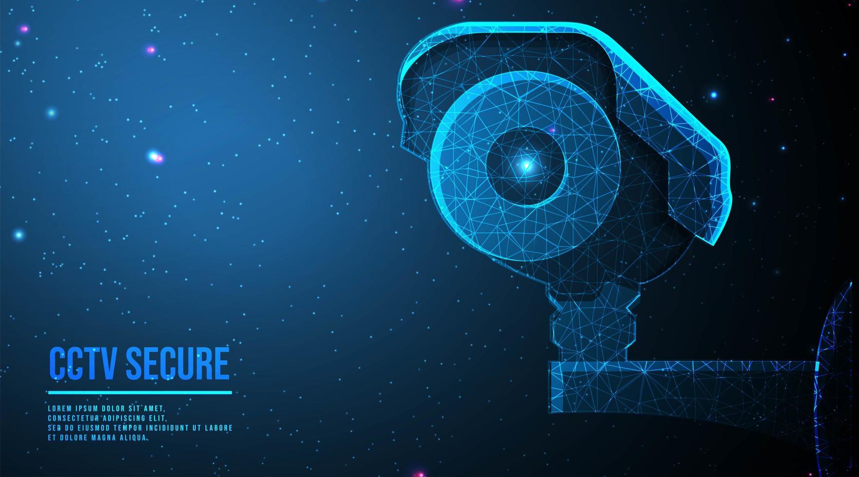 conception abstraite de caméra de vidéosurveillance moderne vecteur