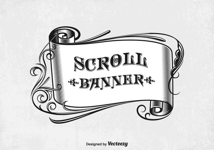 Bannière Vintage Free Scroll Vintage vecteur