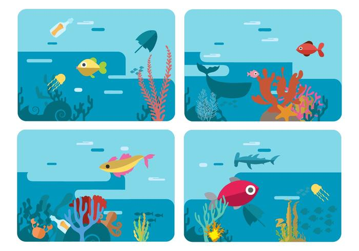 Illustration vectorielle mondiale libre de la mer sous la mer vecteur