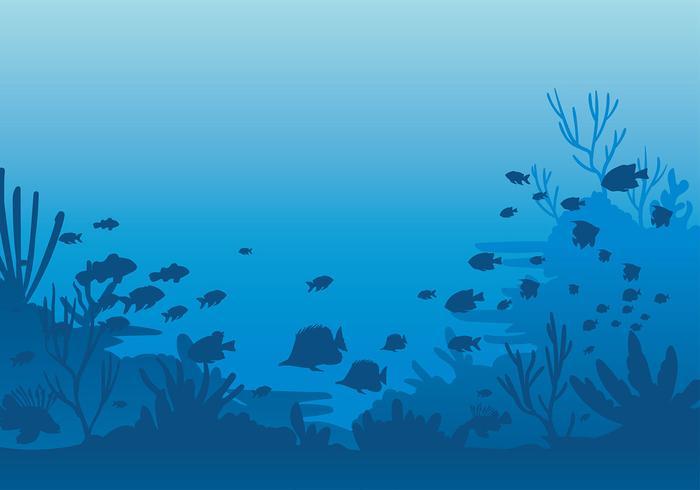 Vecteur libre des fonds marins