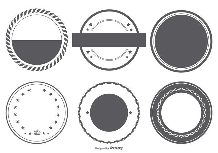 Collection de formes de badges vectoriels vecteur