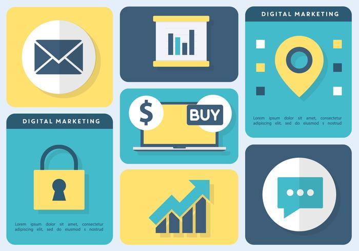 Illustration vectorielle gratuite de Digital Marketing vecteur