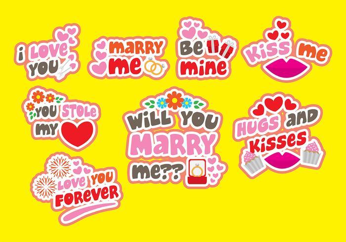 Insignes Marry Me Vecotr vecteur