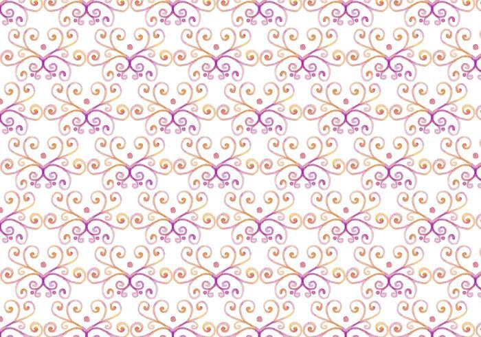 Pink Vector Aquarelle Royal Background