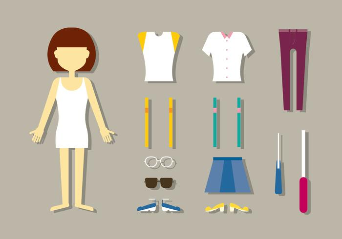 Vecteurs de poupées de mode pour femmes vecteur