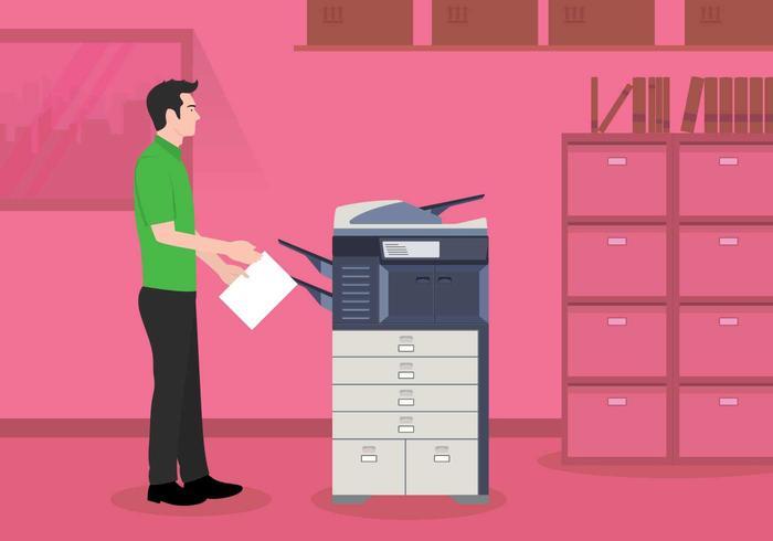 Illustration de photocopieur gratuite vecteur