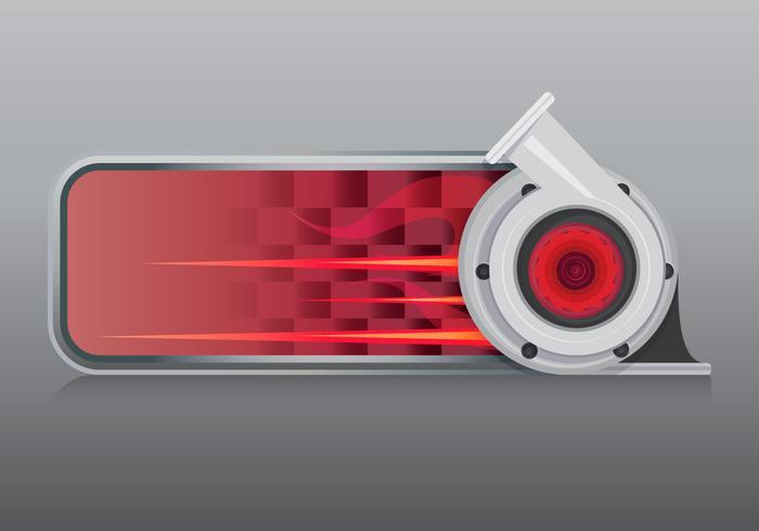 Modèle de logo de course à turbocompresseur vecteur