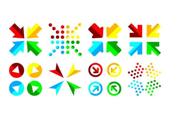 Vecteur combiné gratuit d'icône de flèche
