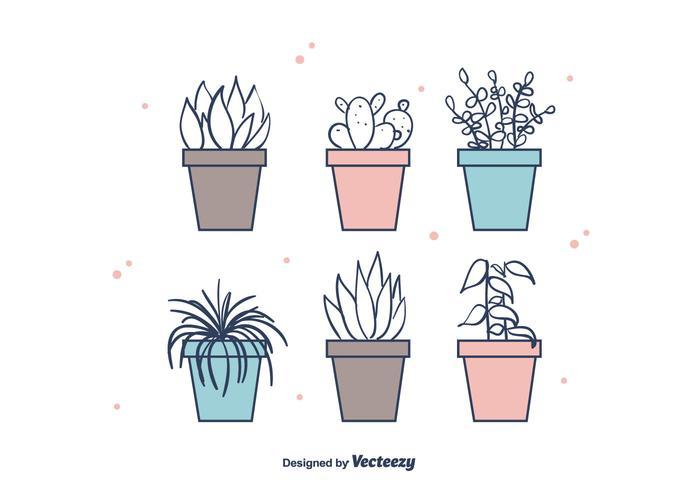 Vecteur de plantes de maison