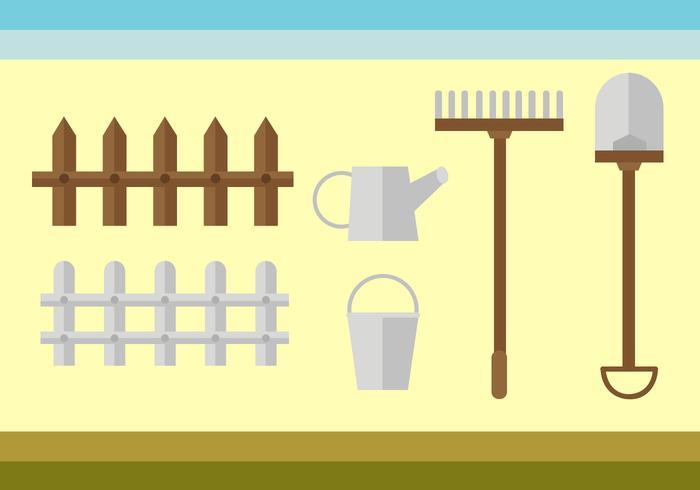 Vecteur libre d'outils de jardinage