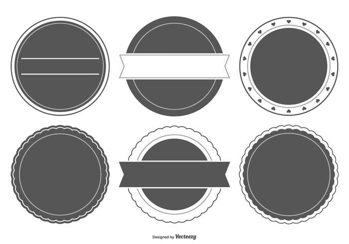 Formes d'insigne en blanc vecteur