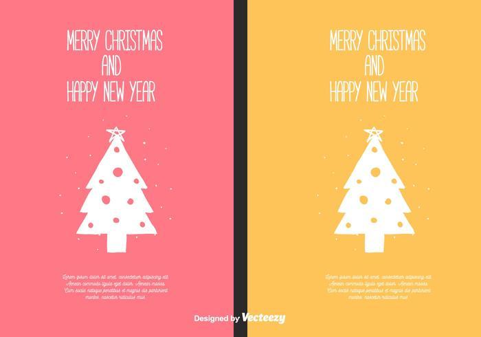 Cartes de Noël gratuites vecteur
