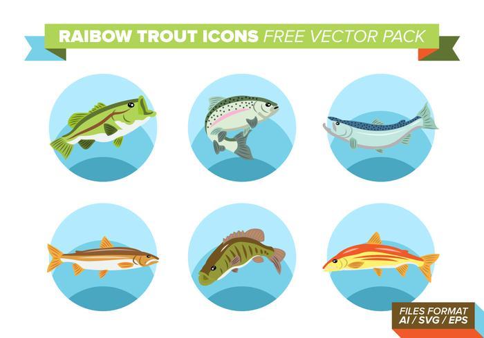 Icônes de truites arc-en-ciel Pack gratuit de vecteurs vecteur