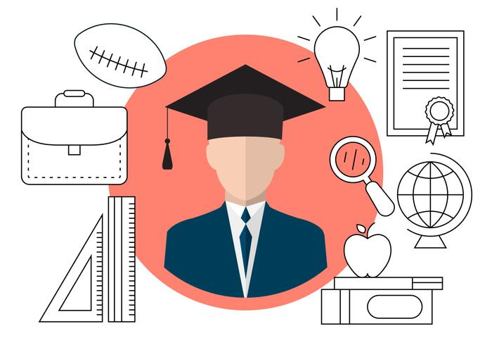 Icônes de graduation gratuites vecteur