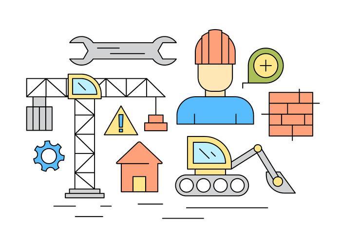 Icônes de construction gratuites vecteur