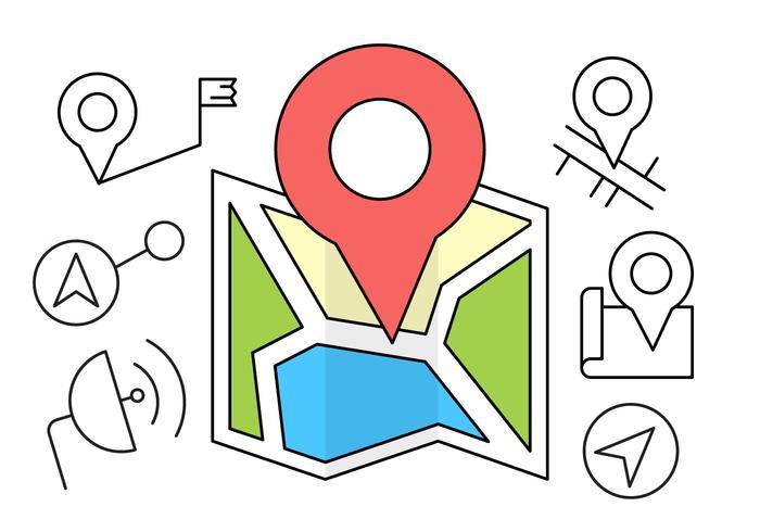 Icônes GPS gratuites vecteur