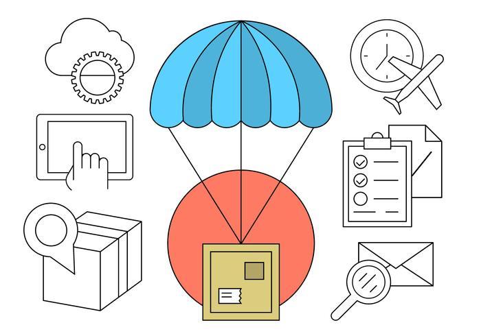 Éléments vectoriels postaux gratuits vecteur
