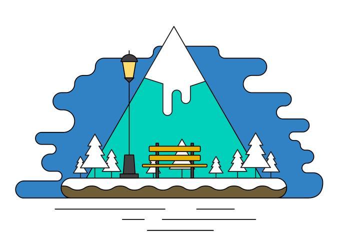 Illustration vectorielle de l'île paysage vecteur