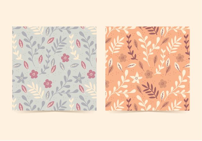 Motifs floraux vectoriels vecteur