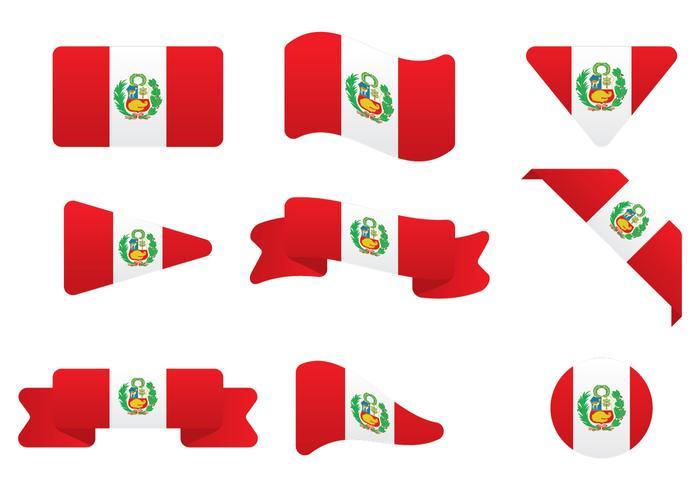 Drapeau du Pérou vecteur