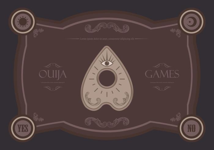 Ouija illustration des jeux magiques vecteur