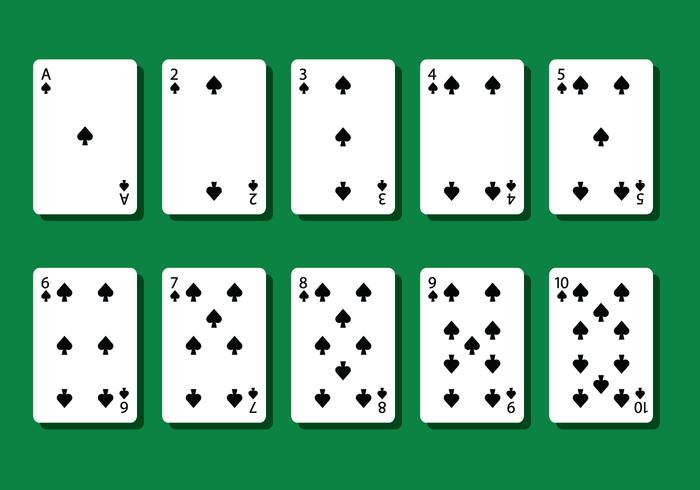 Vecteurs de carte Spade Poker vecteur