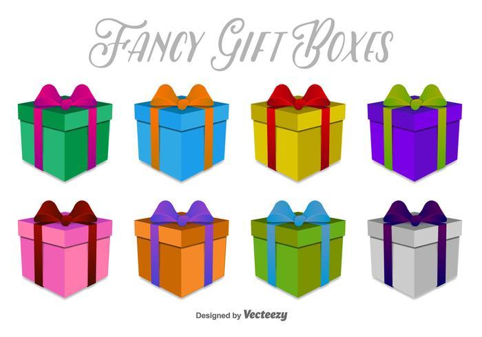 Boîtes à cadeaux 3D icônes vectorielles vecteur