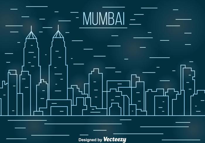 Ligne de Mumbai vecteur paysage urbain