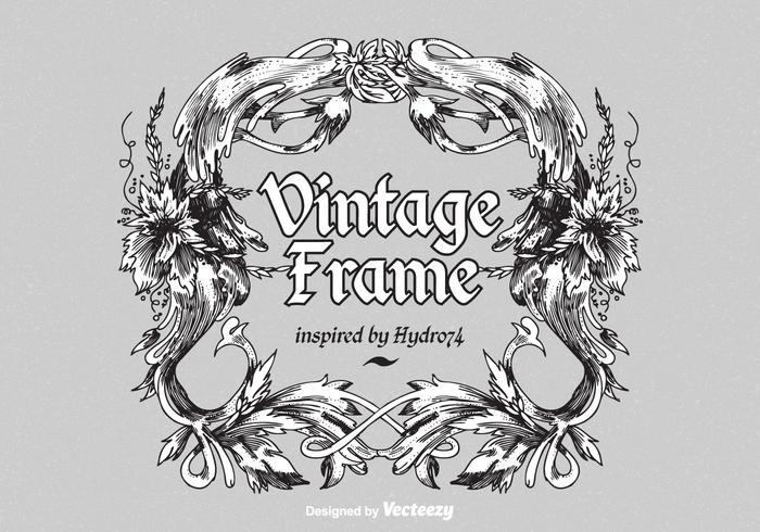 Cadre Vintage Vector Ornement Vintage