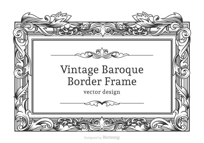 Cadre baroque baroque de vecteur gratuit