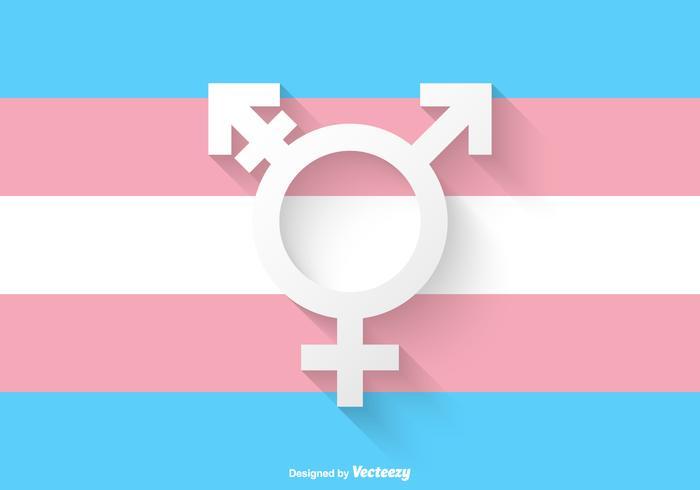 Vecteur de symbole transgender papier libre