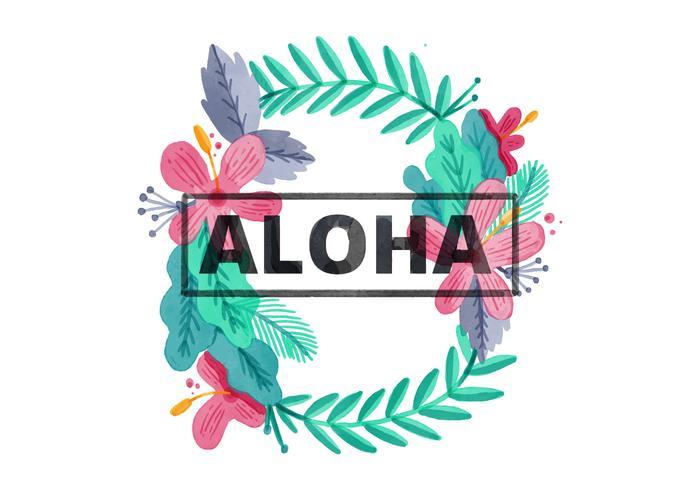 Fond d'aquarelle gratuit Hawaiian Lei vecteur