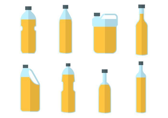 Vecteur de bouteille d'huile de palme gratuit