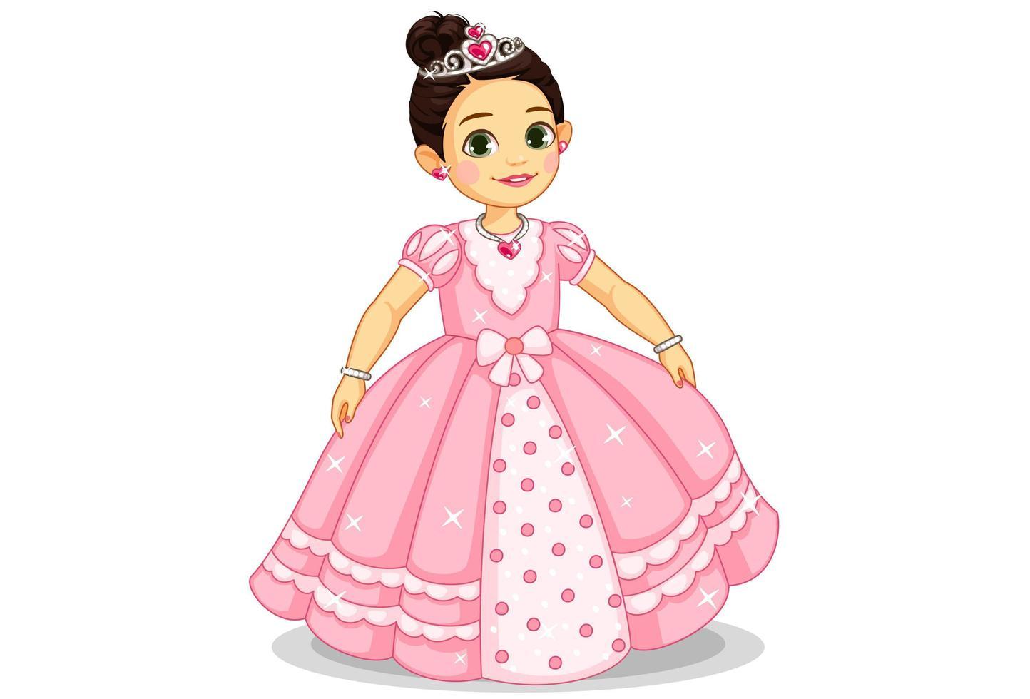 belle petite princesse vecteur