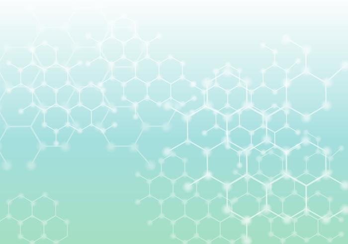 Fondation abstraite virtuelle de nanotechnologie incandescente vecteur
