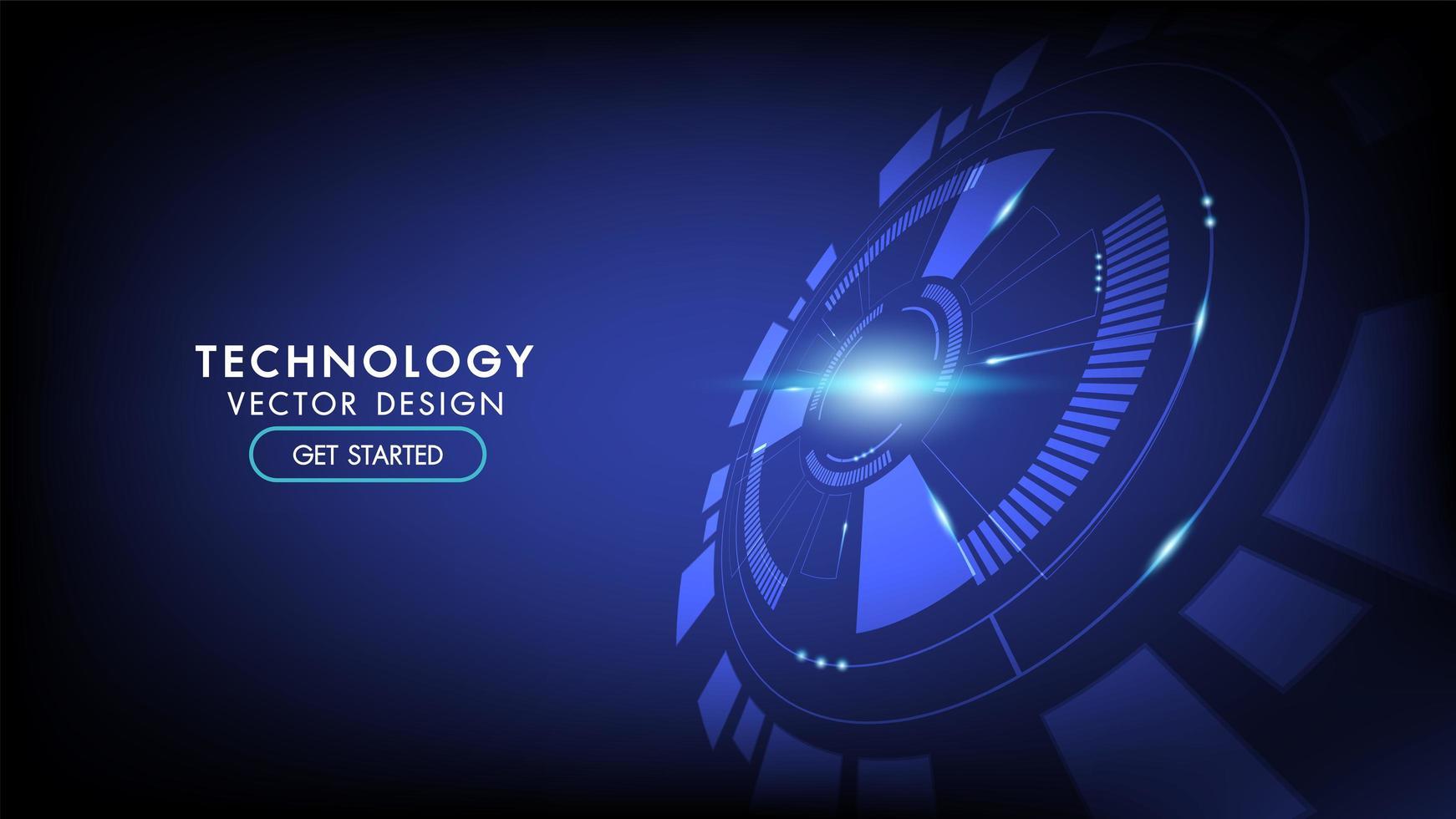 fond abstrait de technologie hi-tech vecteur