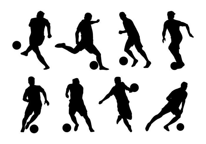 Vecteurs de joueur de futsal vecteur